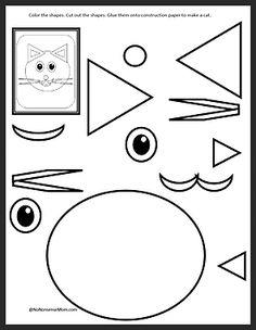 Preschool Cut and Paste Activities Preschool Worksheets, Preschool Learning, Kindergarten Activities, Educational Activities, Toddler Activities, Learning Activities, Preschool Activities, Teaching, Learning Centers