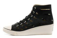 5bf7f6561348 Black Converse All Star High Tops Mermaid Chuck Taylor Women Wedge Heel  Shoes  D53163  -  60.00   Canada Converse
