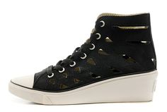 Black Converse All Star High Tops Mermaid Chuck Taylor Women Wedge Heel Shoes [D53163] - $60.00 : Canada Converse, Converse Ofiicial in Ontario