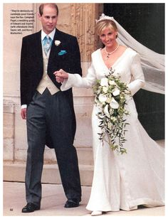 Prince Edward and Sophie Rhys-Jones on their wedding day - now the Earl and Countess of Wessex