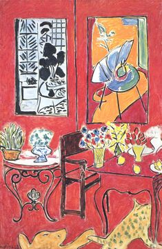 Stunning Color and Details On This Canvas Titled 'Red Interior,' Painted By Henri Matisse In 1948.
