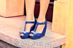 blue suede with a bow :)