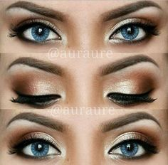 Shimmery Bronze Eyeshadow - looks just like Sarah Corica's fall tutorial on YouTube!