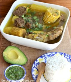 Sancocho Antioqueño o Paisa (Paisa Region Soup) Colombian Dishes, My Colombian Recipes, Colombian Cuisine, Columbian Recipes, Beef Flank Steak, Spanish Dishes, Pork Ribs, One Pot Meals, Different Recipes