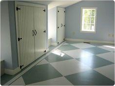 painted wood floors diy