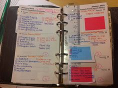 (read 03/28/13 - cute picture of a weekly page - <3 the color coding - ThT)