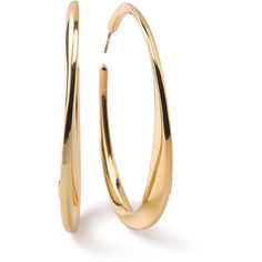 Ippolita 18K Glamazon Heavy Bottom Large Hoop Earrings ($1,695) ❤ liked on Polyvore featuring jewelry, earrings, gold, hoop earrings, hoops, jewelry earrings, yellow gold earrings, earring jewelry, ippolita earrings and gold jewellery