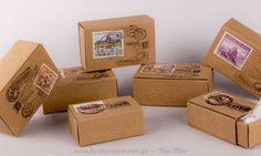 Κουτάκι δέμα ταχυδρομείου | bombonieres.com.gr