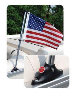 Kayak Fishing Anchor Pontoon Flag Pole Socket with Flag. Make A Boat, Build Your Own Boat, Diy Boat, Cool Boats, Small Boats, Kayak Fishing, Fishing Boats, Saltwater Fishing, Marlin Fishing