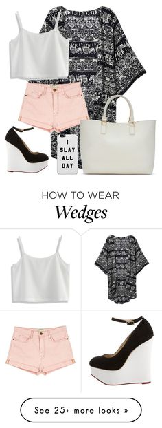 """""""Untitled #1666"""" by directioner-123-ii on Polyvore featuring Current/Elliott, Chicwish, ShoeDazzle, Charlotte Olympia and FFfatifashion"""