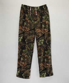 Look what I found on #zulily! Brown & Green Camo Fleece Sweatpants - Women by Trail Crest #zulilyfinds