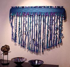 [wall hanging at Contemporary Crafts Gallery]