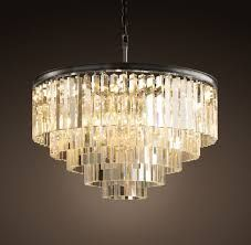 small glass chandelier (dining room)