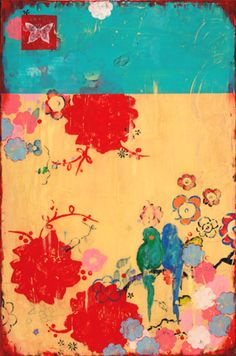 LOVE THIS! Artwork with kimono style/color scheme!