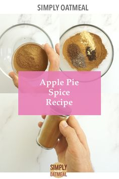 Ring in the fall season by making a fresh batch of apple pie spice. Of course it a key ingredient in making a signature fall favorite, warm apple pie, however that not the only use for this spice blend. Pie Spice Recipe, Apple Pie Spice, Pumpkin Pie Spice, Oatmeal Toppings, Oatmeal Recipes, Homemade Peanut Butter, Homemade Apple Pies, Spiced Apples, Apple Butter