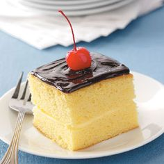 Boston Cream Pie Recipe | Taste of Home Recipes