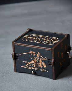 Boyfriend Star Wars Gift Personalized Wooden Music Box Custom Wooden Music Box, Star Wars Gifts, Personalized Gifts, Handmade Gifts, Custom Boxes, Decorative Boxes, Boyfriend, Stars, Unique Jewelry