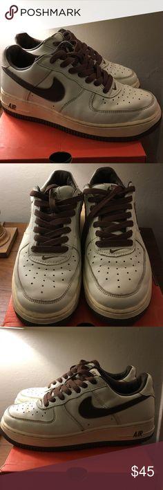 Wmns Air Force 1 Premium 7.5 Color: Sail/ Medium Brown Nike Shoes Athletic Shoes