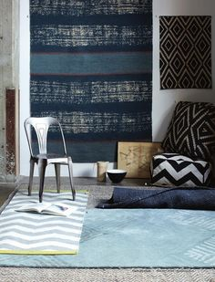 rugs and poufs - west elm catalog