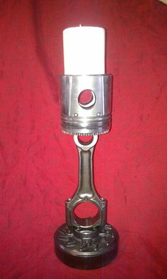Candlestick recycled Landrover & car parts one of a by mechart, £45.50