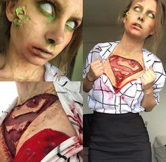 Zombie supergirl