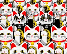 Rock n Rollo Maneki Neko Maneki Neko, Pop Art, Emo, Japanese Cat, 1 Tattoo, White Cats, Hello Kitty, Kitty Kitty, Drawings