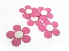 """Doc McStuffins 3"""" Flower Die Cut for Party Decorations or Favor Tags - Textured 80lb Cardstock - You Pick the Color. $3.60, via Etsy."""