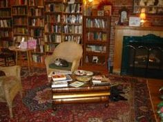 Thimbleberry Books - AbeBooks - Marshfield, WI, U.S.A. This is such a cool place - fireplace, 2 friendly cats, all kinds of stuff on the walls, and comfy chairs in little corners among the stacks.  you could spend days here and not want to come out. Fun Things, Wisconsin, Nostalgia, Chairs, Walls, Comfy, Shelves, Cool Stuff, Reading