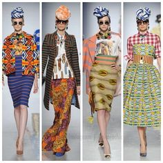 More from Rome's Fashion Week. Stella Jean collection. Those turbans are everything
