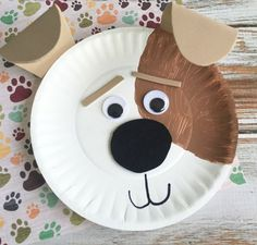 Max Dog Paper Plate Craft Craft Gawker Inspiration Of Paper Plate Animals Craft Images. Paper Plate Art, Paper Plate Animals, Paper Plate Crafts For Kids, Animal Crafts For Kids, Winter Crafts For Kids, Crafts For Kids To Make, Toddler Crafts, Preschool Crafts, Paper Plates