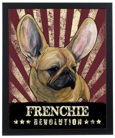 French Bulldog Revolution Art Print – JohnLaFree.com #frenchbulldog #frenchie #johnlafree