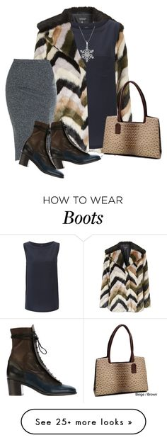 """Navy, Gray, Brown & Black"" by maison-de-forgeron on Polyvore featuring Topshop, Joseph, Dasein and Laurence Dacade"