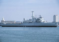 HMS Intrepid (Landing Platform Dock (LPD)) pictured departing Portsmouth Harbour