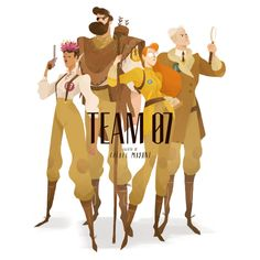 TEAM07 A group of heroes fighting crime in the 1930s. Ive been thinking about these characters the past week. I wanted to create a hero team inspired by very different types of people. They are all based on real people that were born in 1907 (hence...