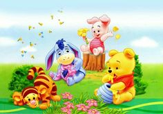 """Baby Winnie the Pooh and Friends. Baby Tigger, Baby Eeyore, Baby Piglet, and Baby Pooh.  """"Winnie the Pooh and Friends"""""""