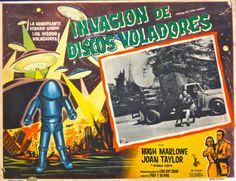 scificovers:  Invasion de Discos Voladores! Lobby card for...