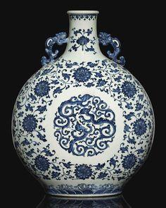 Porcelain In China Fine Porcelain, Porcelain Ceramics, Ceramic Art, White Ceramics, Painted Porcelain, Hand Painted, Porcelain Jewelry, Blue And White Vase, Blue Pottery