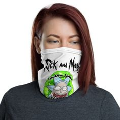 Rick and Morty Neck Gaiter | Rick and Morty Fans | Fans wearing Rick and Morty Apparel #Covid19 #NeckGaiter #Rick #Gaiter #Morty #Neck #RickAndMorty #Fashion #Apparel Rick And Morty, Neck Warmer, Stretch Fabric, Fabric Weights, Fans, Trending Outfits, How To Wear, Etsy, Women