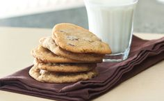 Treat yourself. Take a break with a warm chocolate chip cookie and a glass of milk. Epicure Recipes, Specialty Cookware, Baked Rolls, Easy Chocolate Chip Cookies, Dessert Recipes, Desserts, Yummy Recipes, Biscuits, Some Recipe