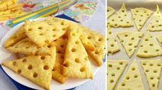 cheese crackers from 4 raw materials 26 best recipes for New Year 's Eve, sticks and rolls NejRecept. No Salt Recipes, My Recipes, Cookie Recipes, Favorite Recipes, Menu Brunch, Yummy Food, Tasty, Snacks Für Party, Four