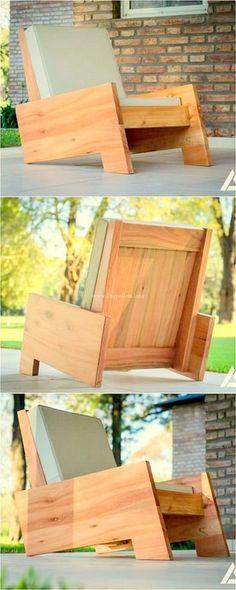 Stylish Diy Pallets Chair Ideas