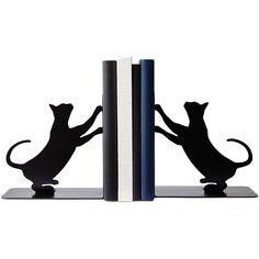 UncommonGoods Cat Scratch Bookends ($65) ❤ liked on Polyvore featuring home, home decor, small item storage, book-end, cat home decor, book ends, cat book ends and handmade home decor