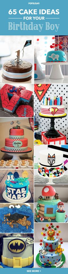 We've dug up some of the best birthday cakes out there for boys of all ages. Check out the list and get inspired for his big day!