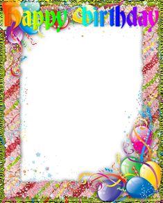 ® Colección de Gifs ®: MARCOS PARA FOTOS DE CUMPLEAÑOS Happy Birthday Frame, Birthday Frames, Happy Day, Birthday Cake, Blog, Instagram, Happy Birthday Photos, Birthday Photos, Birthday Cakes