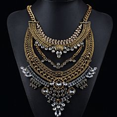 Golden Rhinestone Statement Necklace Extraordinary and fabulous!! Jewelry Necklaces