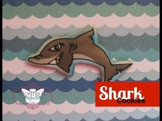 ▶ Stenciled shark cookies - how to decorate with your airbrush - YouTube