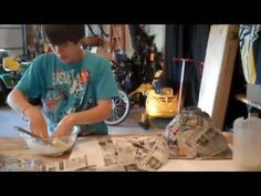 How to make a paper mache volcano and erupt it!