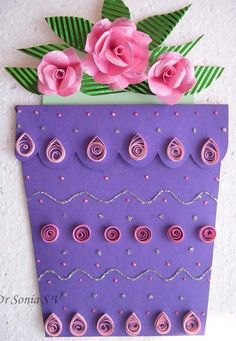 DIY Paper DIY Craft DIY  Flower Pot Card