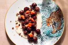 Chicche al cacao con grana e papaia
