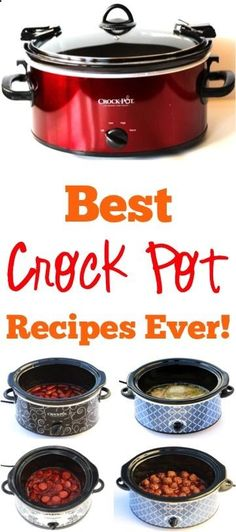 Crockpot Recipes! BIG list of easy Slow Cooker Dinners and Fun Recipes for Parties that are always a hit!
